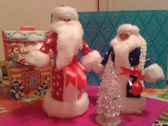 Дед мороз из ваты: делаем новогоднюю поделку ded moroz iz vaty