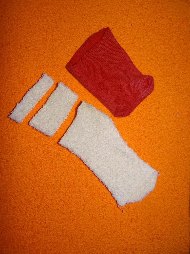 Дед Мороз из носка: готовимся к празднику заранее ded moroz iz noska 12