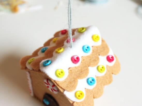 Создаем красивые домики из фетра на Новый год domik 16