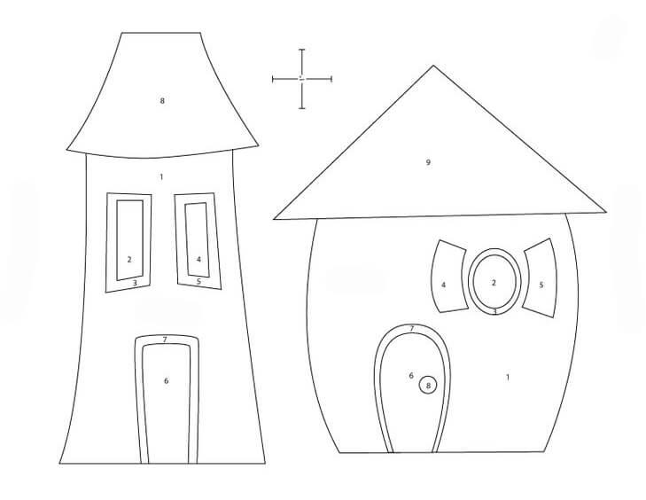 Создаем красивые домики из фетра на Новый год domik 20