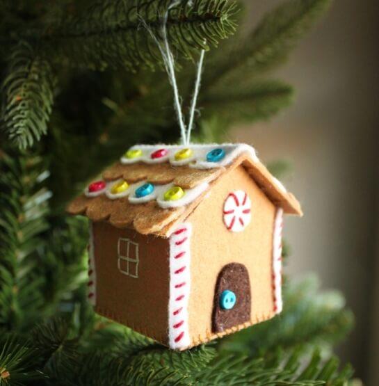 Создаем красивые домики из фетра на Новый год domik 3