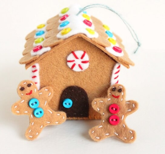 Создаем красивые домики из фетра на Новый год domik 4