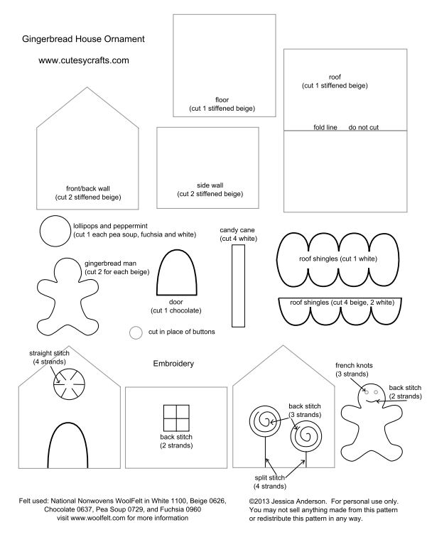 Создаем красивые домики из фетра на Новый год domik 5