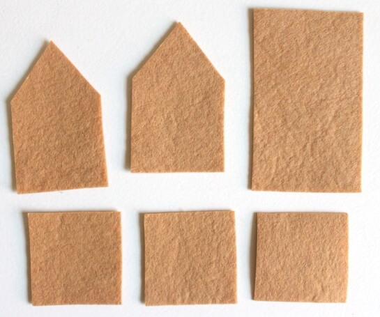 Создаем красивые домики из фетра на Новый год domik 6