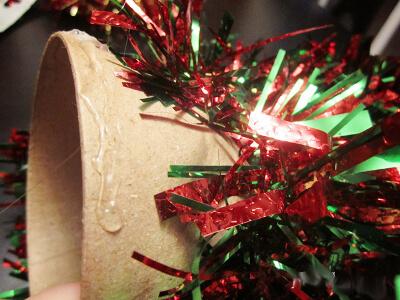 Елочка из мишуры на Новый год: различные способы создания elka iz mishury 11