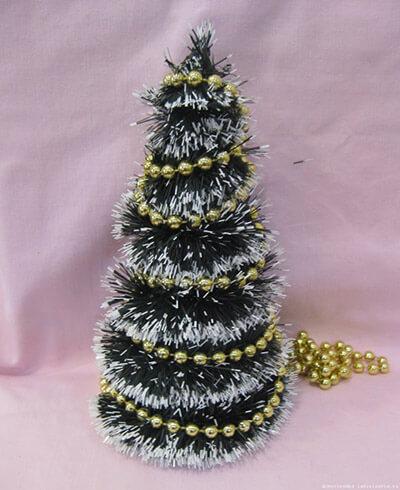 Елочка из мишуры на Новый год: различные способы создания elka iz mishury 12