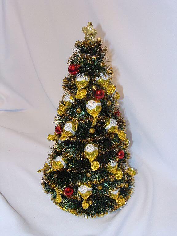 Елочка из мишуры на Новый год: различные способы создания elka iz mishury 15