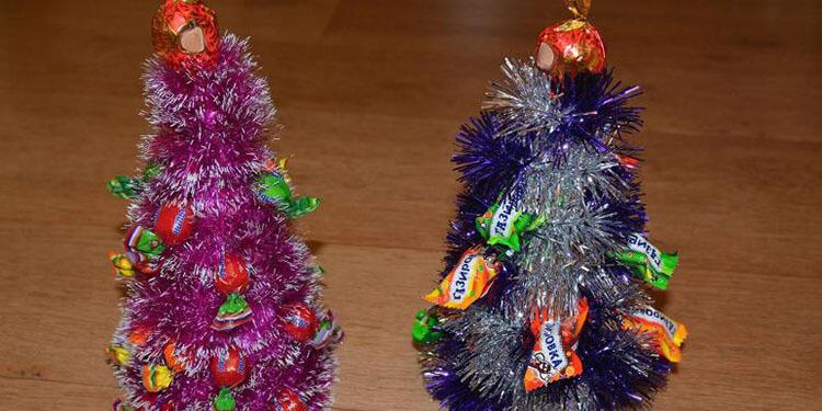 Елочка из мишуры на Новый год: различные способы создания elka iz mishury 20