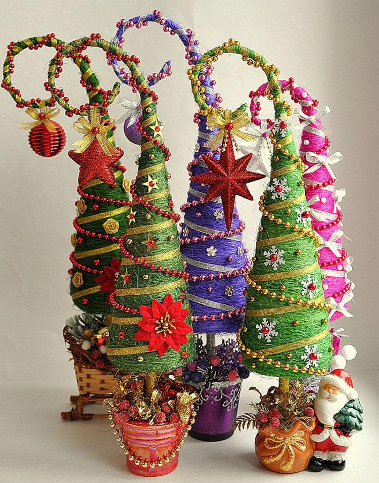 Красивая елка из сизаля на Новый год: мастер класс elka iz sizalya 1