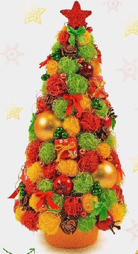 Красивая елка из сизаля на Новый год: мастер класс elka iz sizalya 10