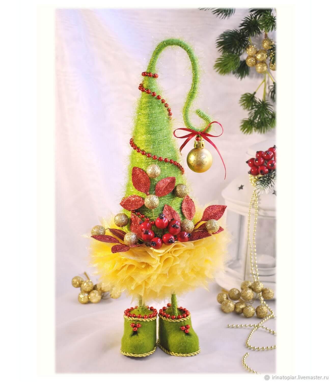 Красивая елка из сизаля на Новый год: мастер класс elka iz sizalya 11