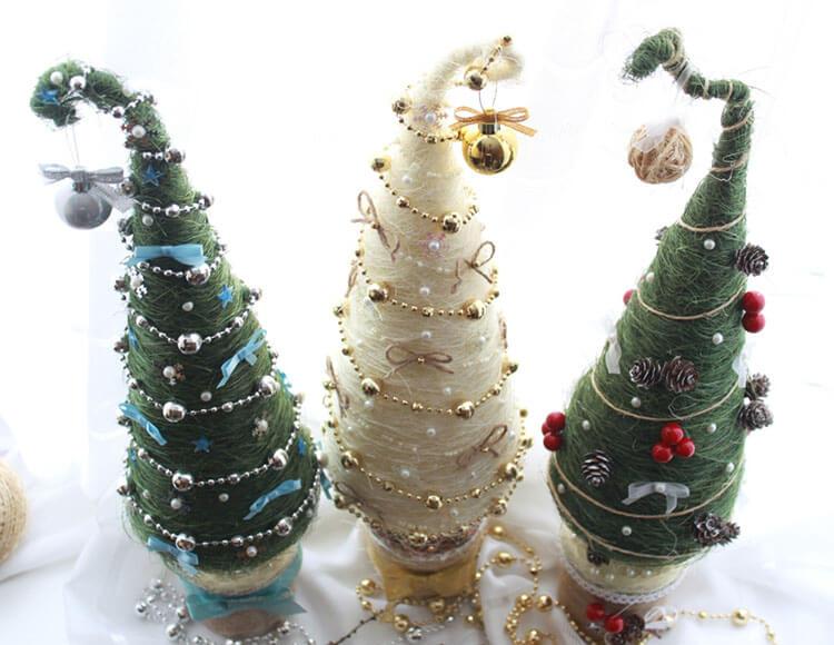 Красивая елка из сизаля на Новый год: мастер класс elka iz sizalya 2