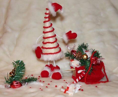 Красивая елка из сизаля на Новый год: мастер класс elka iz sizalya 27
