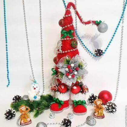 Красивая елка из сизаля на Новый год: мастер класс elka iz sizalya 28