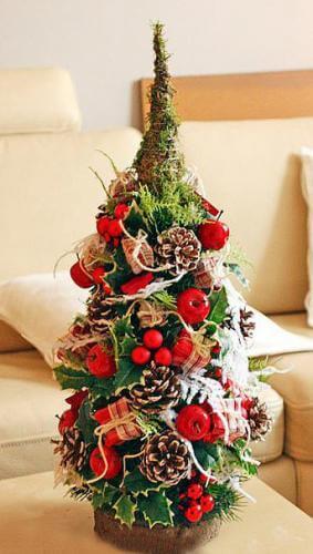 Красивая елка из сизаля на Новый год: мастер класс elka iz sizalya 3