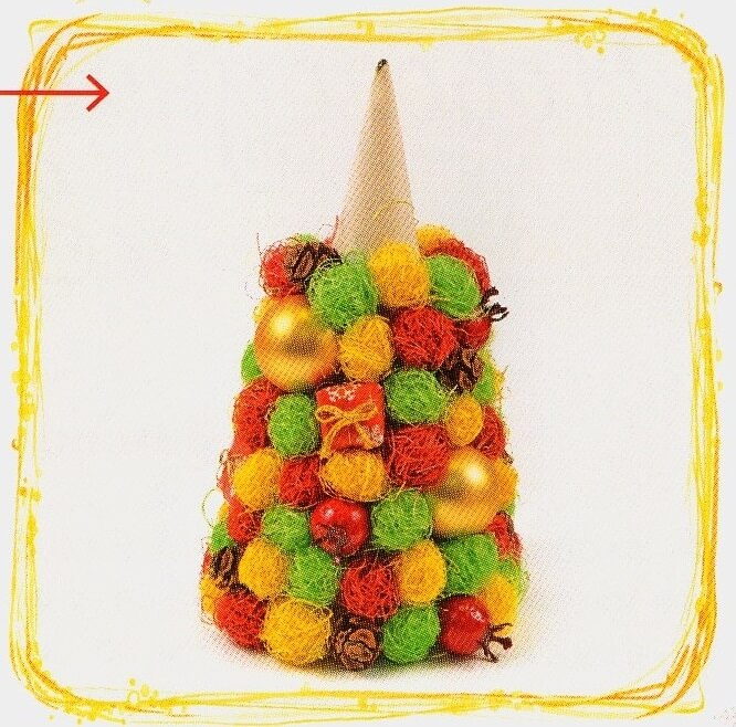 Красивая елка из сизаля на Новый год: мастер класс elka iz sizalya 8