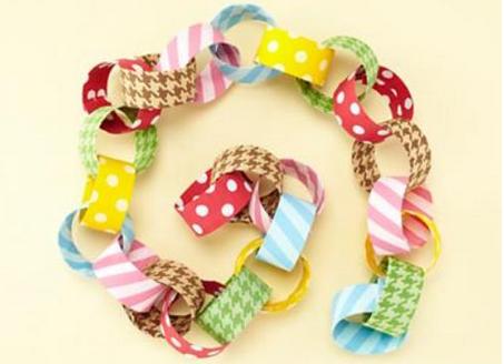 Гирлянда из цветной бумаги — красивая и простая поделка girlyanda iz cvetnoj bumagi 4