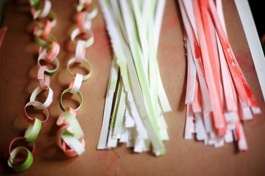 Гирлянда из цветной бумаги — красивая и простая поделка girlyanda iz cvetnoj bumagi 5