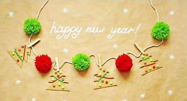 Гирлянда Елочка на стену на Новый год girlyanda iz elochek 1