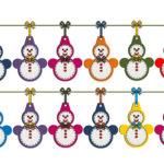 Гирлянда из бумажных снеговиков: готовимся к Новому году