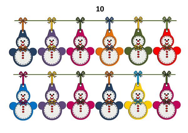 Гирлянда из бумажных снеговиков: готовимся к Новому году girlyanda snegovikov iz bumagi 13