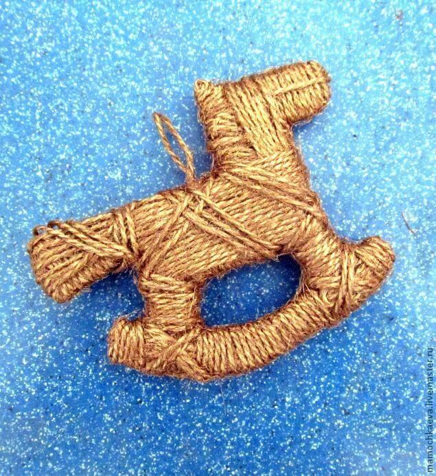 Игрушки из шпагата для украшения Елки igrushki iz shpagata 5
