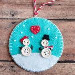 Снеговик из фетра: детская поделка к новому году