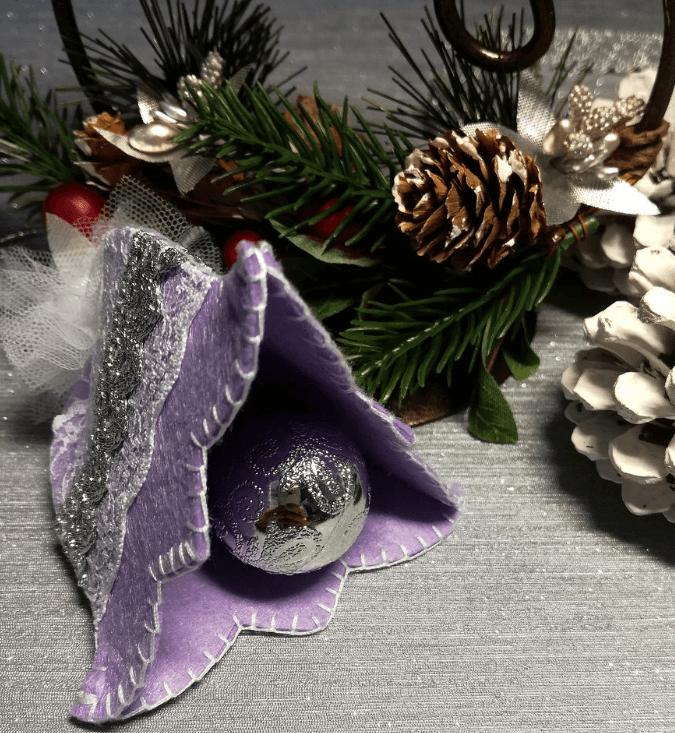 Новогодний колокольчик для украшения Елки kolokolchik 12