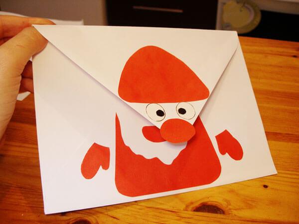 Конверт для письма Деду Морозу: надо верить в чудеса konvert dlya pisma Dedu Morozu 20