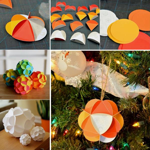 Поделки из цветной бумаги на Новый год novogodnie igrushki iz cvetnoj bumagi 5