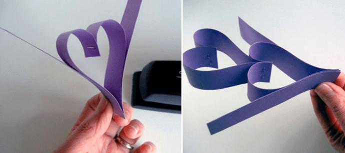 Объемная гирлянда из бумаги для украшения дома на Новый год obemnaya girlyanda iz bumagi 3
