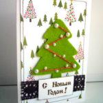 Заготовка для письма Деду Морозу — открытка из фетра