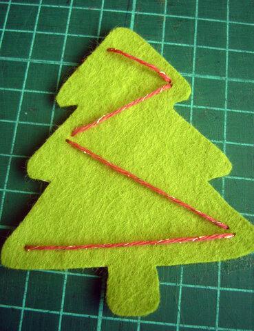 Заготовка для письма Деду Морозу   открытка из фетра otkrytka iz fetra 10