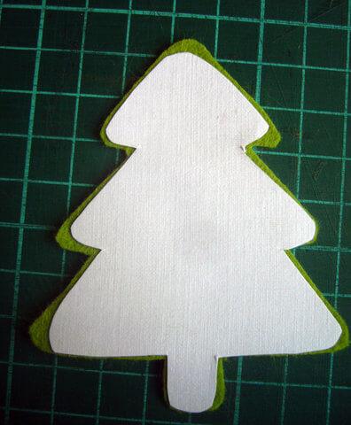 Заготовка для письма Деду Морозу   открытка из фетра otkrytka iz fetra 11