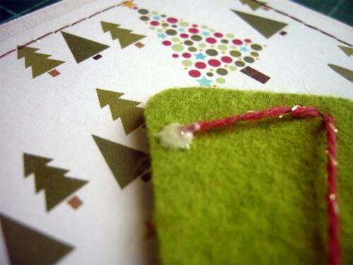 Заготовка для письма Деду Морозу   открытка из фетра otkrytka iz fetra 19