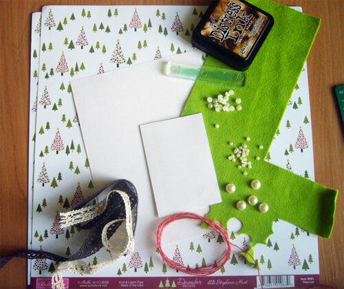 Заготовка для письма Деду Морозу   открытка из фетра otkrytka iz fetra 2