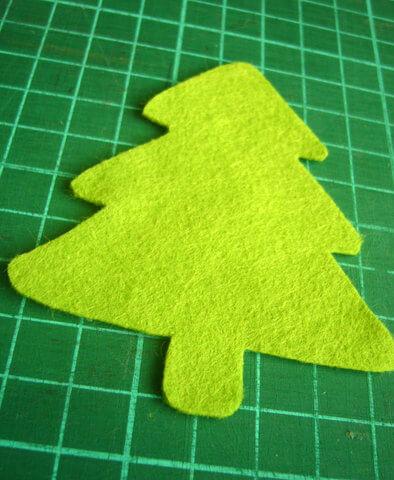 Заготовка для письма Деду Морозу   открытка из фетра otkrytka iz fetra 8