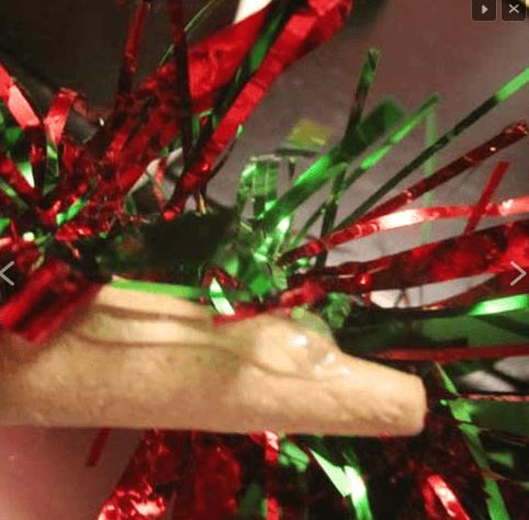 Поделки из мишуры на Новый год podelka iz mishury 4