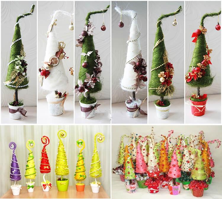Поделки из шариков сизаля: елочка на Новый год podelka iz sizalya 1