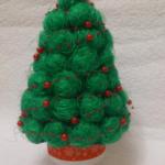 Поделки из шариков сизаля: елочка на Новый год