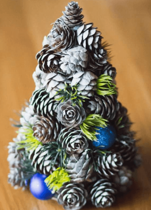 Подготовка к Новому году: поделки из шишек podelki iz shishek 14