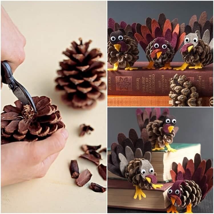 Подготовка к Новому году: поделки из шишек podelki iz shishek 52