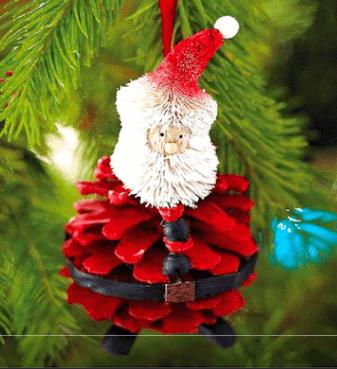 Подготовка к Новому году: поделки из шишек podelki iz shishek 54