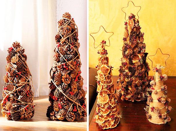 Подготовка к Новому году: поделки из шишек podelki iz shishek 7