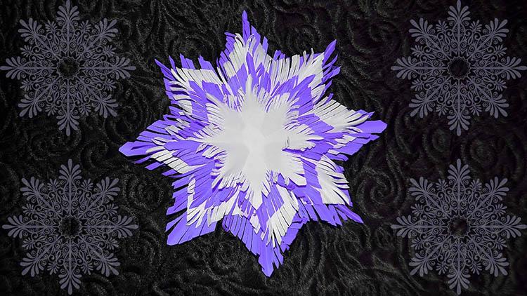 Пушистые снежинки своими руками   красивое украшение для Нового года pushistaya snezhinka 41