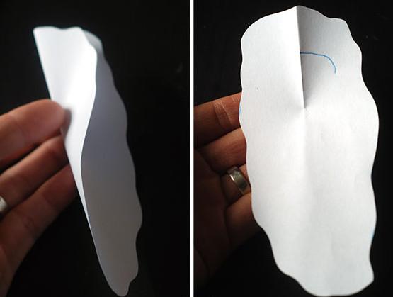 Дед мороз из бумаги: яркая аппликация для ребенка sdelat ded moroza iz bumagi 9