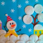 Аппликация снеговик: поделка для детского садика