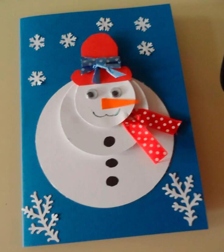 Аппликация снеговик: поделка для детского садика snegovik applikaciya iz bumagi 15