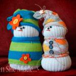 Детская поделка Снеговик из носка: пошаговый мастер-класс