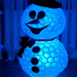 Снеговик из пластиковых стаканчиков: пошаговая инструкция